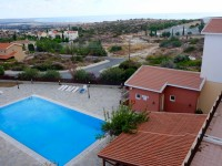 Episkopi Hotel view with highschool and beach